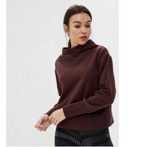 Nike Dri-Fit Studio Mock Neck Sweater Maroon Large